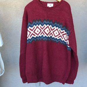 J Crew handknit 100% wool sweater men's size large
